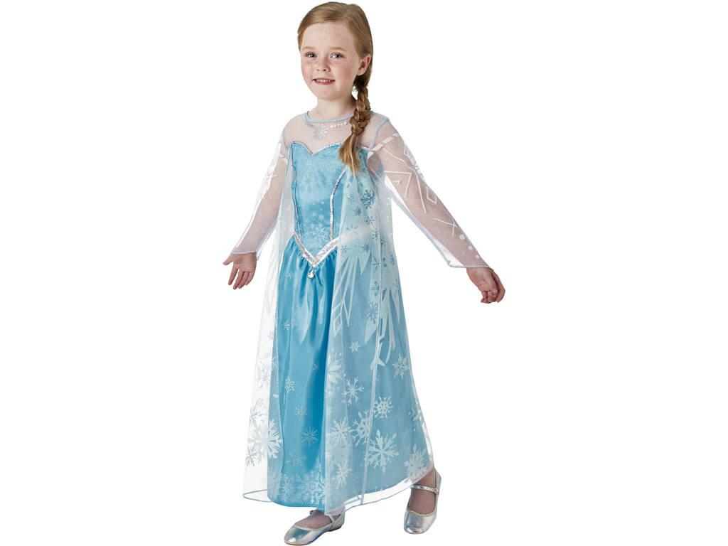 Disfarce Menina Frozen Elsa Deluxe T - L Rubies 630574