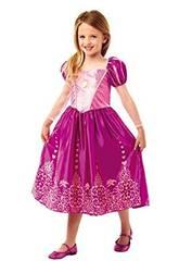 Disfraz Niña Rapunzel Classic Deluxe T-L Rubies 640722-L