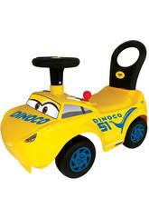 Cavalcabile Cruz Cars con attività, luci, suoni e schienale 34x56x27 cm 1-3 anni
