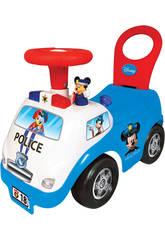 Porteur Mickey Police Activités, Lumières et Sons 35 x 51 x 25 cm