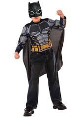 Disfraz Niño Batman Armored Con Máscara y Pecho Musculoso (112-122cm)