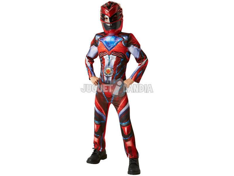 Disfarce Menino Ranger Vermelho Movie Deluxe T - S Rubies 630711 - S