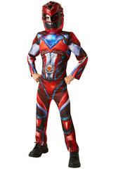 Disfraz Niño Ranger Rojo Movie Deluxe T-L Rubies 630711-L