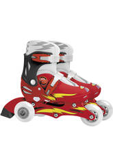 Patines Cars 2 en 1 ajustables nº 27-30
