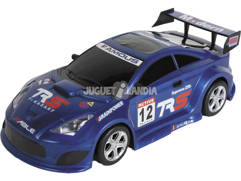 Vehículo Fricción Súper Racing 44 cm. Azul Famous 12