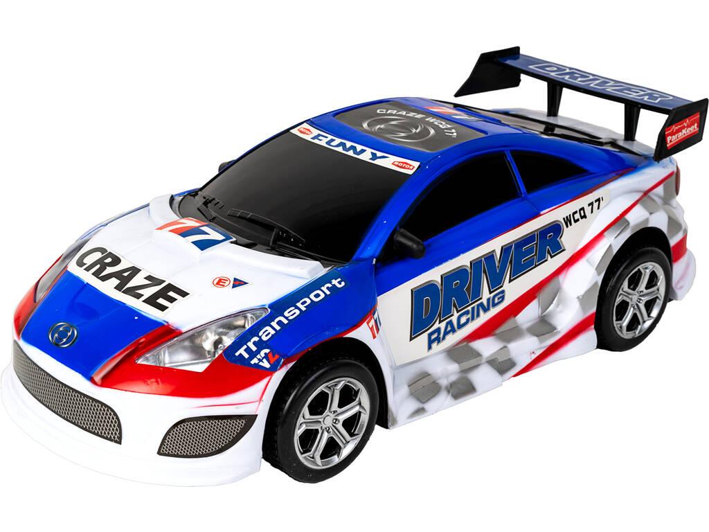 Carro Fricção Super Racing 44 cm. Azul Funny 77