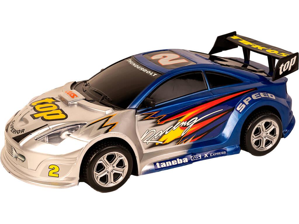 Vehículo Fricción Súper Racing 44 cm.Azul Thunderbolt 2
