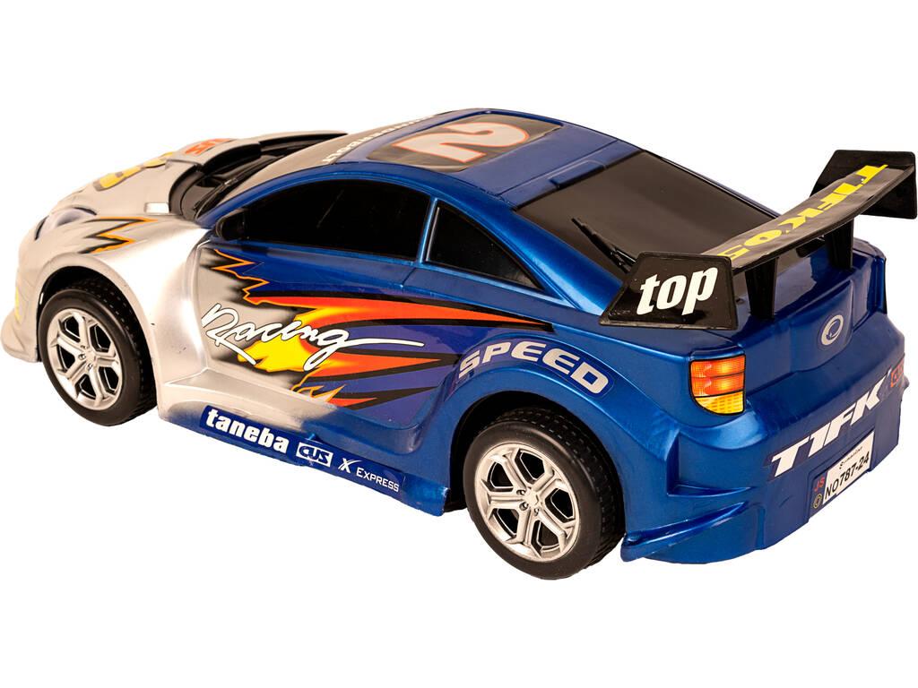 acheter voiture friction super racing 44 cm bleu thunderbolt 2 juguetilandia. Black Bedroom Furniture Sets. Home Design Ideas