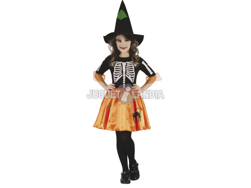 Disfarce Criança M Bruxa Esqueleto