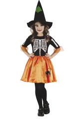 Déguisement Fille Taille L Sorcière Squelette