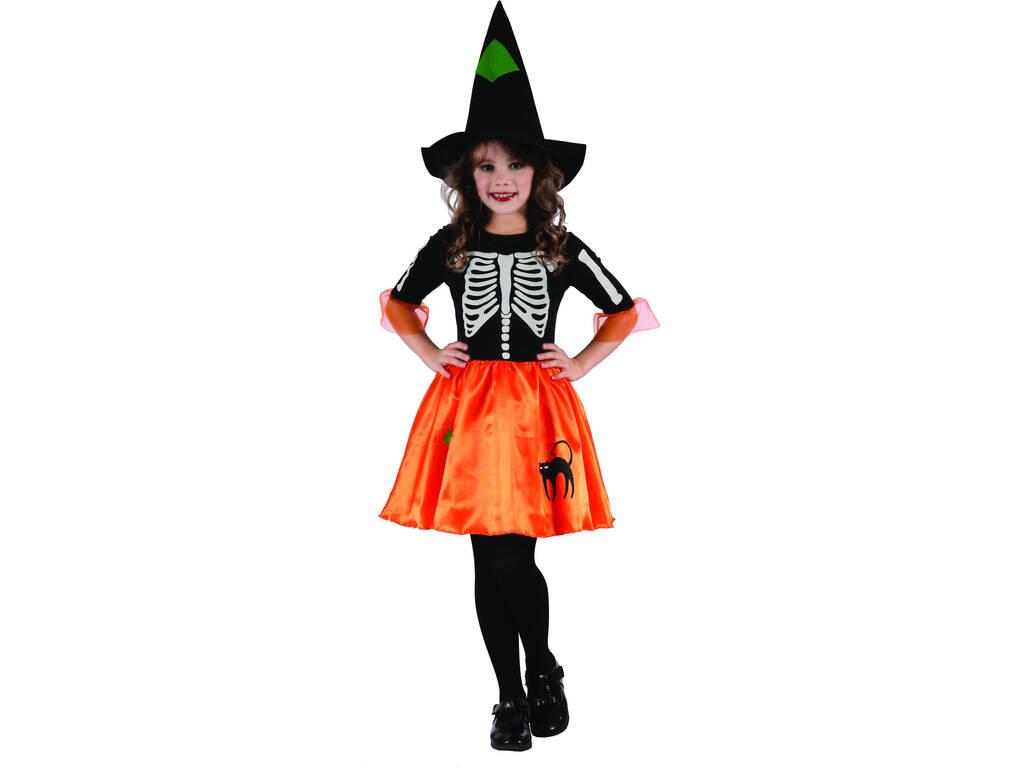 Disfarce Criança XL Bruxa Esqueleto