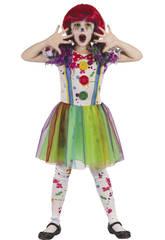 Déguisement Fille Taille S Clown Sanglant