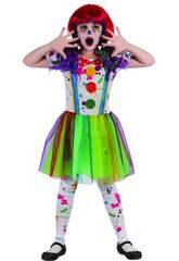 Déguisement Fille Taille M Clown Sanglant