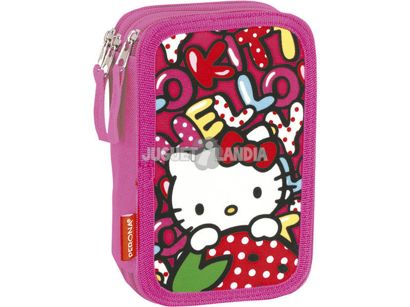 Estojo Triplo Hello Kitty Sweetness Perona 53857