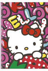 Hello Kitty Cahier A4 100 Pages Couverture Rigide Sweetness Perona 53869