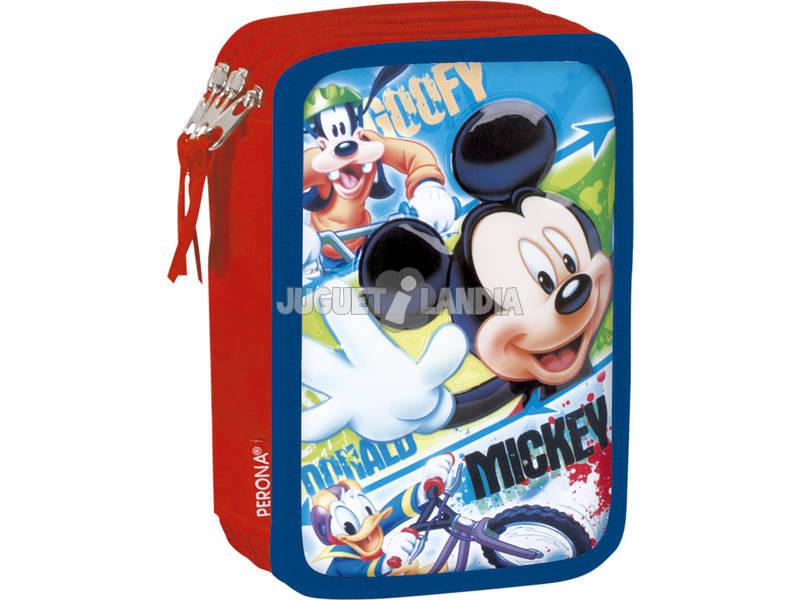 Estojo Triplo Mickey Face Perona 54369