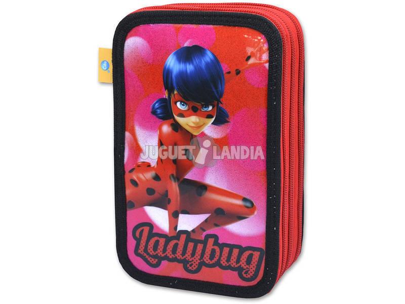 Ladybug Estojo 3 Compartimentos Cife 40956