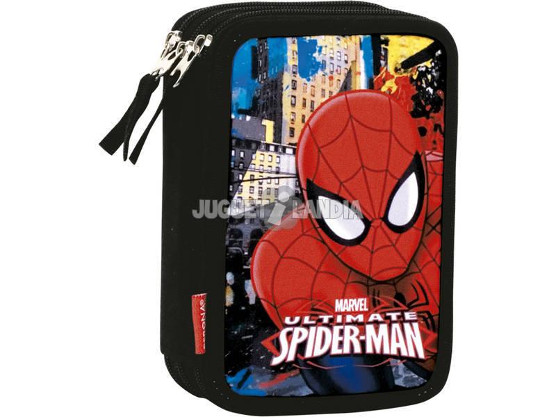 Estojo Triplo Spiderman Town Perona 54297
