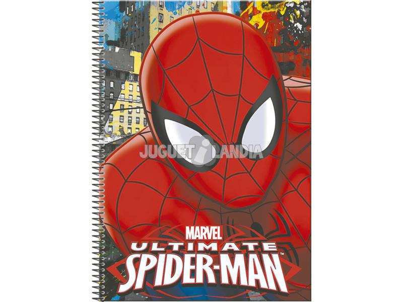 Caderno A4 80 Folhas Spiderman Town Perona 54309