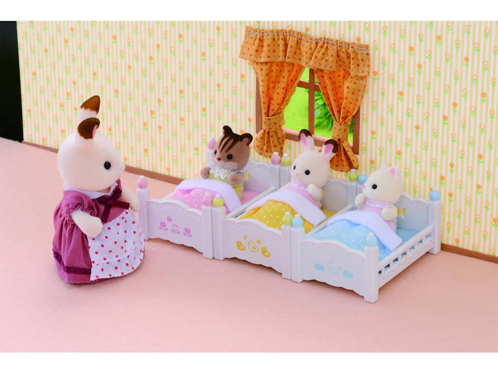 acheter lit triple superpos sylvanian families 4448 juguetilandia. Black Bedroom Furniture Sets. Home Design Ideas