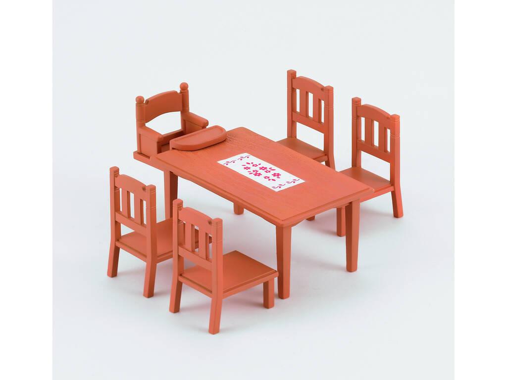 Famílias Sylvanian definir mesa de jantar epoch para imaginar 4506
