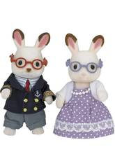 Sylvanian Families Lapin Chocolat Grands-Parents Epoch Pour Imaginer 5190