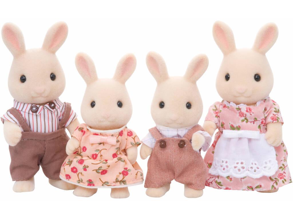 Sylvanian Families Familia Conejos Blancos Epoch Para Imaginar 4108