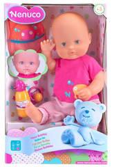 Muñeco Nenuco Hace Babitas Con Accesorios 37cm Famosa 700011203