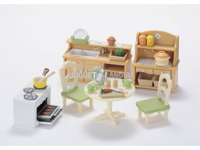 Famílias Sylvanian Set Epoch Kitchen To Imagine 5033