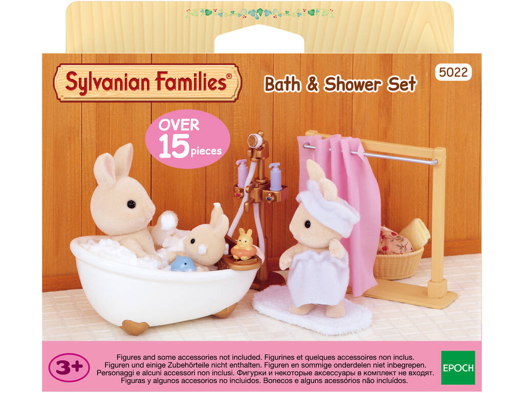 acheter kit baignoire et douche sylvanian families 5022. Black Bedroom Furniture Sets. Home Design Ideas