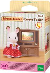 Sylvanian Families Télévision Couleur avec Meuble Epoch Pour Imaginer 4264