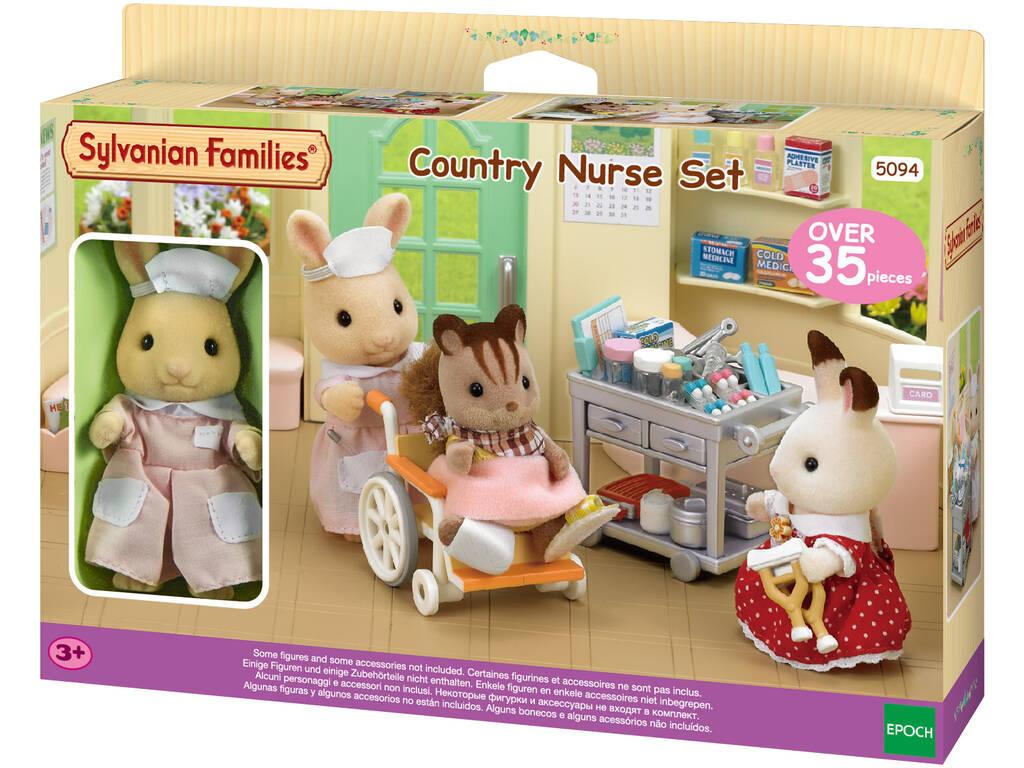 Famílias Sylvanian definir época do país de enfermagem para imaginar 5094