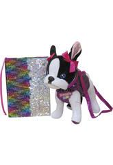 Doggie Star Peluche Borsa con Diario pallettes reversibile CYP BRANDS CK-03-DS