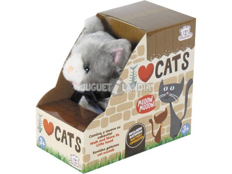 Gatito Andador Peluche con Sonido