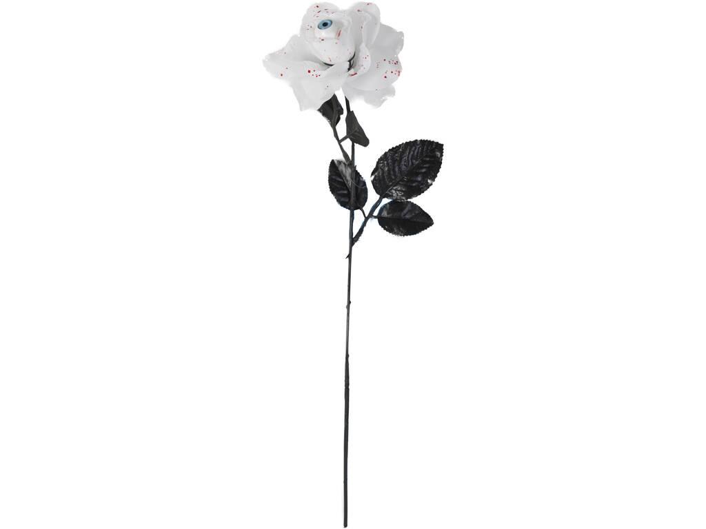 Rosa Branca com Olho 42 cm.