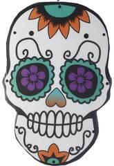 Catrina Día de los Muertos con Luces 48x32x2cm