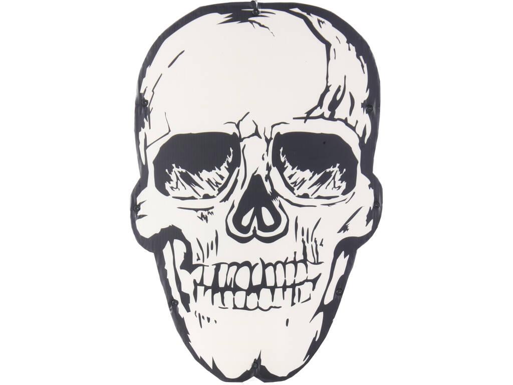 Caveira Dia dos Mortos com Luzes 48x32x2cm