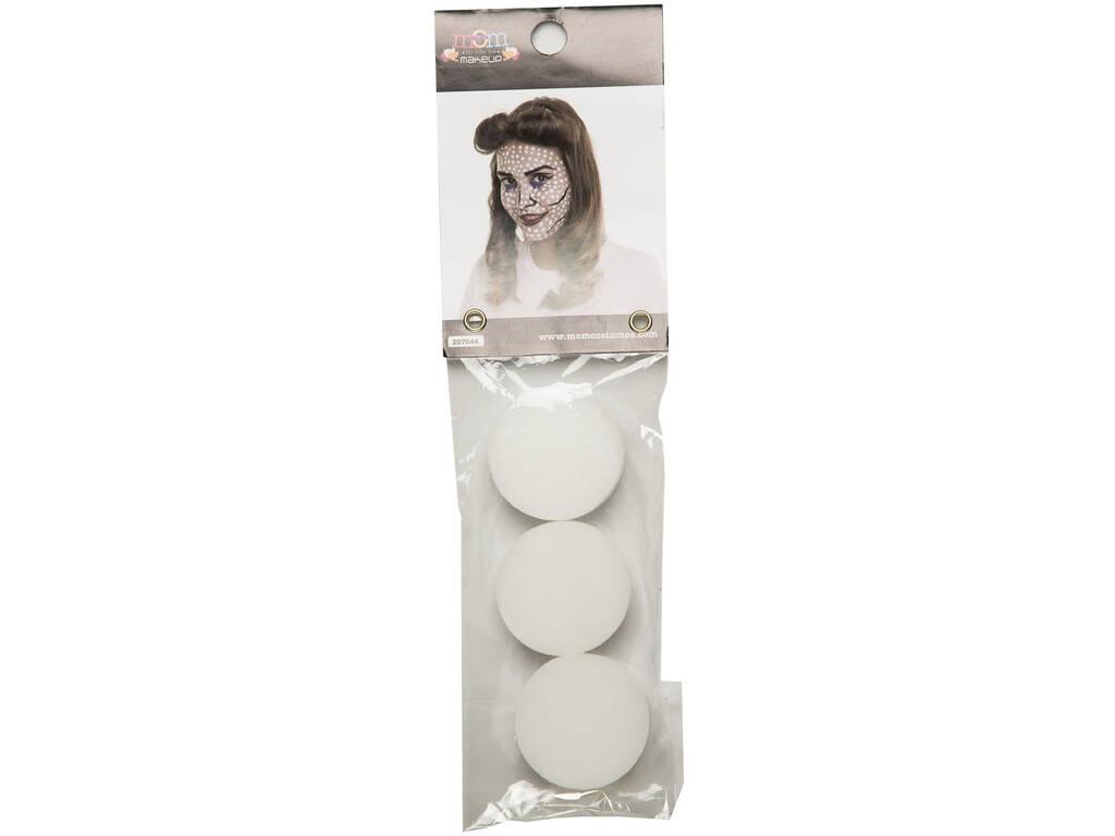 Set de 3 Esponjas Maquillaje 4 cm. Diámetro