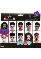 imagen Set de Maquillaje Deluxe Halloween Hasta 10 Caras Diferentes
