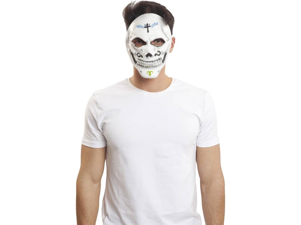 Máscara Látex Esqueleto Catrina 20x21x5cm