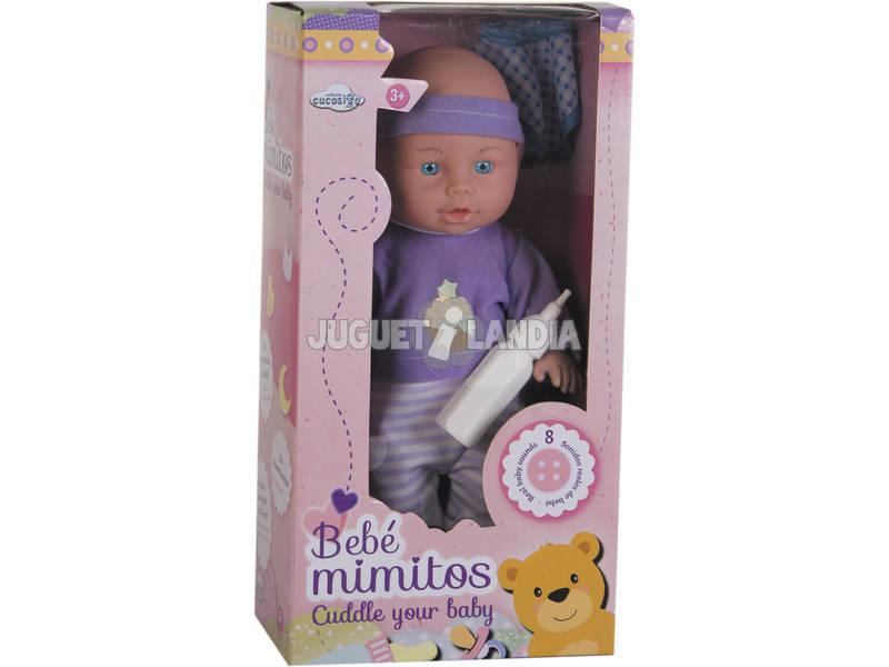Boneco Bebé Miminhos 33cm Com Acessórios e Sons