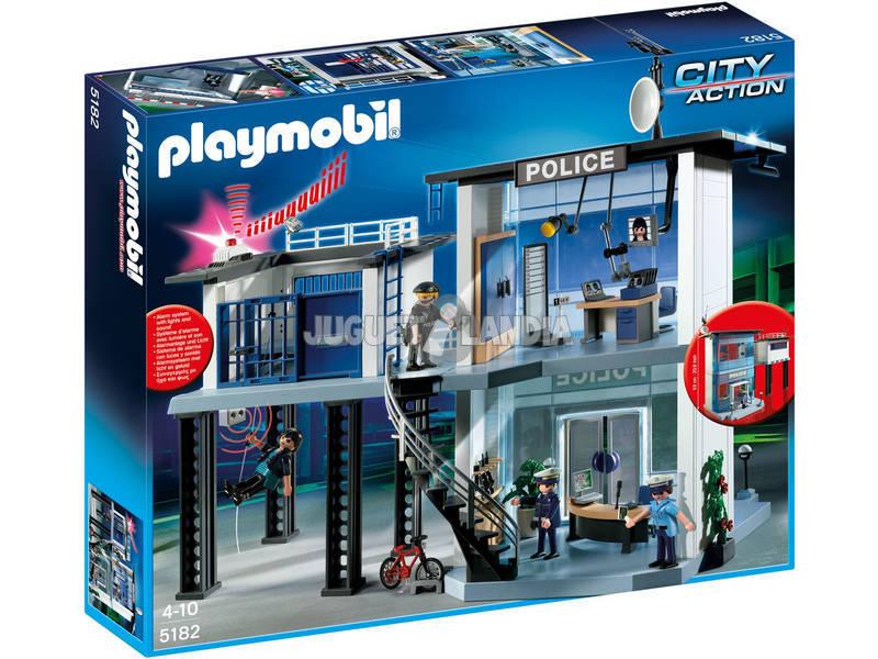 Playmobil Comisaría con Sistema de Alarma