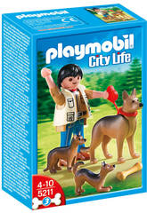 Playmobil Pastor Aleman con cachorro