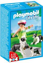 Playmobil Collies con cachorro