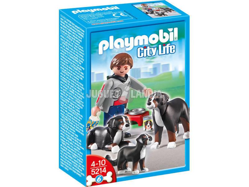 Playmobil cani da montagna con cucciolo