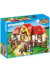 Playmobil granja de ponis con establo