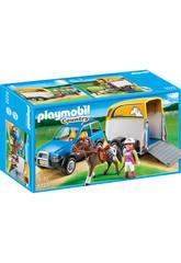 Playmobil Vehiculo con Remolque para Ponis