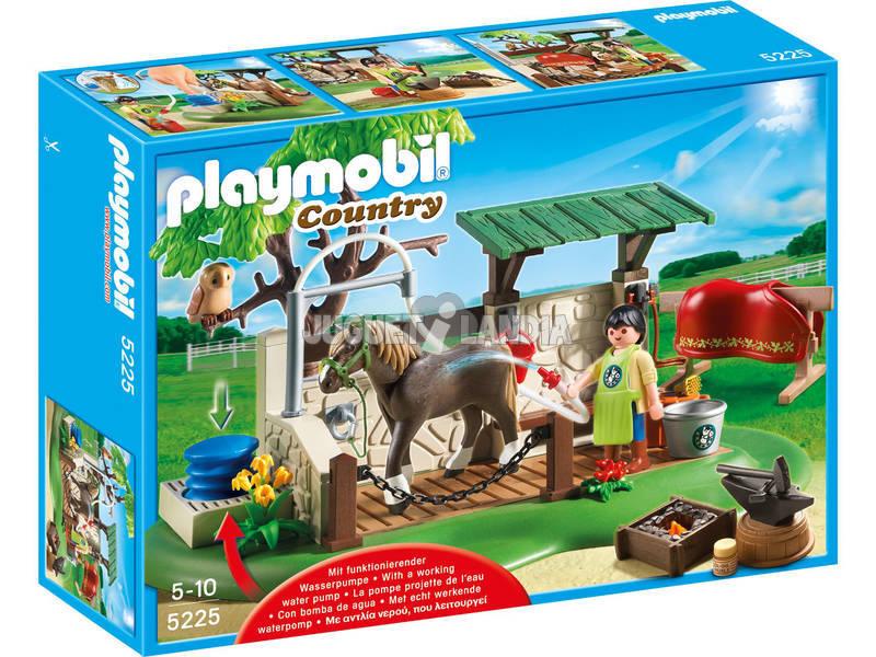 Playmobil ducha para caballos