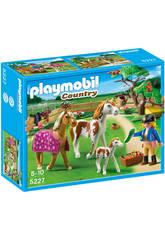 Playmobil cuidadora con caballo
