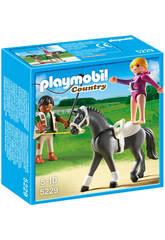 Playmobil entrenamiento de caballos